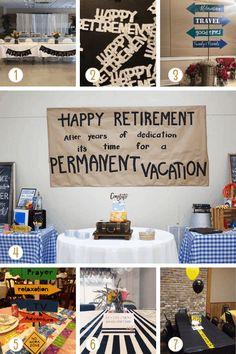 Retirement Party Centerpieces, Retirement Decorations, Party Table Centerpieces, Retirement Celebration, Retirement Party Decorations, Retirement Parties, Retirement Ideas, Teacher Retirement, Happy Retirement Banner