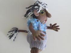 SHORTIE  a soft sculpture troll  9 inch doll by Kaeriefaerie52, $35.00