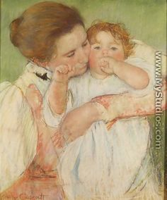 Mother and Child by Mary Cassatt, one of my favorites...