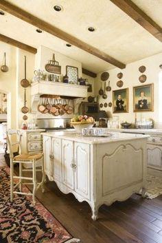 37 amazing modern french country kitchen design ideas - home bestiest. Modern French Country, French Country Kitchens, French Country Cottage, French Style, Country Living, French Decor, French Country Decorating, Cozinha Shabby Chic, Classic Kitchen