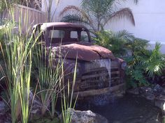 Old Truck Fountain by Anne Kibbe