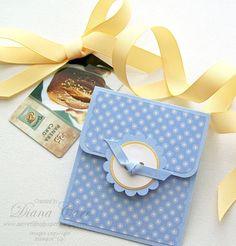 Gift Card Holder  Baby Blue