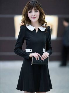 New Style Autumn Clothing Dress Black--Click on the picture link you will be able to get it, we support wholesale.