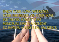 Memorial Day on the boat.