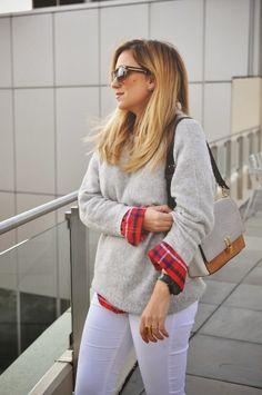 layered plaid flannel