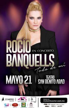 """Rocío Banquells presentará su nuevo espectáculo """"Todo de mí"""", donde incluirá un repaso por sus más grandes éxitos, entérate de todos los detalles en café y cabaret."""