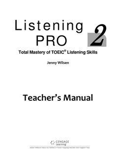 Listening pro 2 teacher s manual  homework