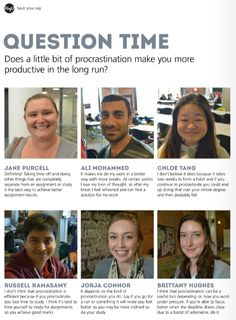 USQ students share their opinion: does procrastination make you more productive in the long run?