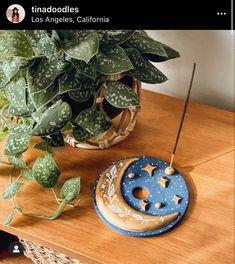 Diy Incense Holder, Ceramic Incense Holder, Diy Air Dry Clay, Air Drying Clay, Air Dry Clay Crafts, Polymer Clay Crafts, Diy Clay, Clay Art Projects, How To Make Clay