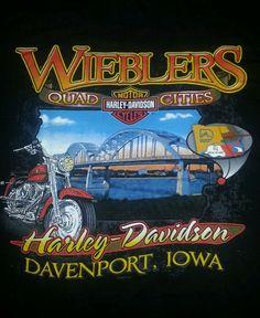 Harley Davidson Motorcycles Men's T-shirt L Black Davenport Iowa Great Shape #HarleyDavidson #BasicTee