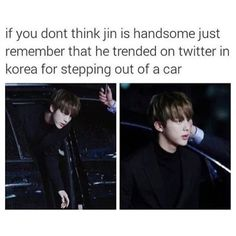 BTS Jin looking very handsome