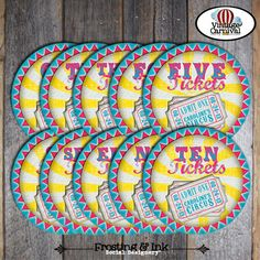 Carnival Party  Circus Party  Ticket Signs  by frostingandink, $10.00