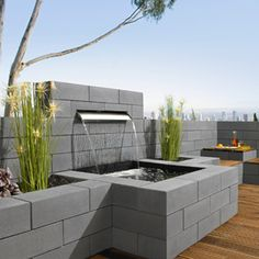 Vanity®-Mauer - All For Backyard Ideas Modern Water Feature, Backyard Water Feature, Garden Mum, Water Garden, Water Wall Fountain, Design Jardin, Backyard Playground, Backyard Ideas, Water Features In The Garden