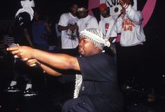 12 Apr 1993, New York State, USA --- Raekwon the Chef (Corey Woods) from the Wu Tang Clan onstage at the Shelter in New York. --- Image by © Chi Modu/Diverse Images/Corbis