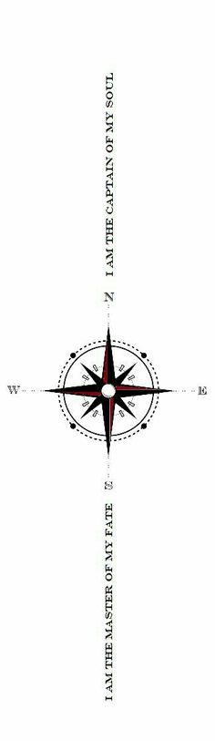 I love the compass. And the idea of the words but would change them around a little bit.