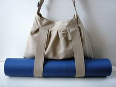 Yoga Mat Bag Brown With Straps For Yoga Mat Handmade BabiminiS hobo cross body bag. €49,00, via Etsy.