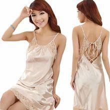 Femmes 2014 Sexy dentelle bretelles de soie soie été automne princesse chemise de nuit occasionnel Bandage robe(China (Mainland))