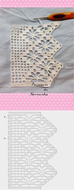 Spiderweb Lace Edging with chart