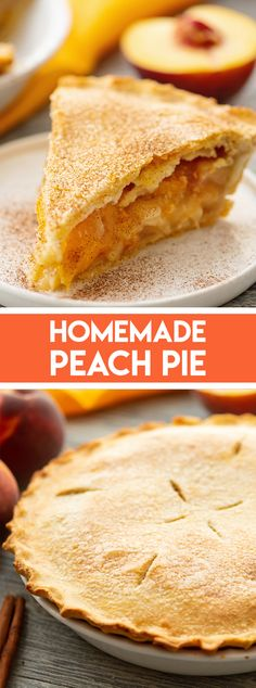 Grandma's Homemade Peach Pie Recipe is a family favorite that is perfect for a special summer dessert! You can even freeze the pie before baking to enjoy it any time of year. Homemade Peach Pie Recipe, Peach Pie Recipes, Tart Recipes, Best Dessert Recipes, Best Peach Pie Recipe, Homemade Pies, Homemade Snickers, Sweet Recipes, Easy Peach Pie