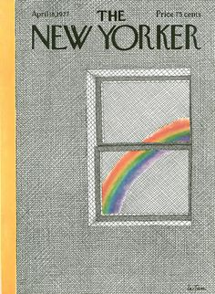 A Pierre LeTan cover from 1977. #Spring #Rainbow