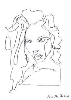"""Gaze 371″, continuous line drawing by Boris Schmitz"