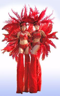 Luci's Quirky Characters - Carnival Stilt Walkers