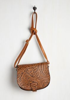 Who's the Emboss? Bag in Cognac, #ModCloth