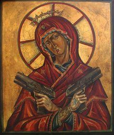 Madonna con pistole -dettaglio ( educazione siberiana) -