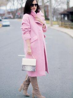 bittersweet colours, pink coat,  asos coat, pink dress, piol dress, anne klein…