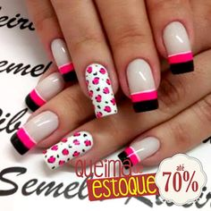 These nail designs will be your indispensable. Stamp this summer with the latest trend nail designs. these great nail designs will perfect you. Fancy Nail Art, Fancy Nails, Bling Nails, Swag Nails, Glitter French Manicure, Nail Time, Latest Nail Art, Toe Nail Designs, Manicure And Pedicure