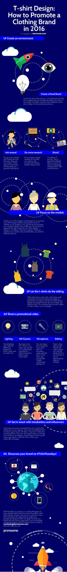 How to promote a clothing brand in 2016: THE INFOGRAPHIC! #clothingbrand #brandpromoting #tshirtdesign