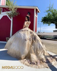 Gold floral quinceañera dress😍🌸✨💕 Book your appointment to say yes to your dream dress at Moda Burgundy Homecoming Dresses, Long Bridesmaid Dresses, 15 Dresses, Wedding Dresses, Chiffon Dresses, Fall Dresses, Fashion Dresses, Women's Fashion, Formal Dresses
