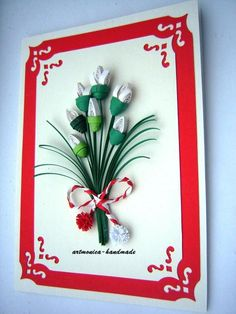 Atelier hirtie-quilling, felicitari -Monatibi. - Pagina 19 Quilling Cards, Paper Quilling, Christmas Cards, Projects To Try, Frame, Model, Handmade, Decor, Quilling