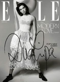 On the cover Dua Lipa photographed by Liz Collins for Elle UK June 2018 Issue. Styled by Anne-Marie Curtis. Hair by Anna Cofone. Makeup by Francesca Angelina Brazzo. Manicure by Adamslee. Nelly Furtado, Christina Aguilera, Gigi Hadid, Fashion Magazine Cover, Magazine Covers, Elle Magazine, Magazine Wall, Princess Caroline, Modern Love