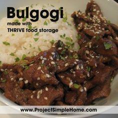 Korean Bulgogi made with Thrive Food Storage ~ Project Simple Home