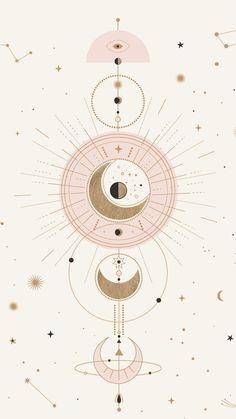 Moon design art – Mond Design Kunst – This image has get. Moon Design, Art Design, Display Design, Cute Wallpapers, Wallpaper Backgrounds, Wallpaper Art, Trendy Wallpaper, Iphone Wallpaper Mandala, Iphone Wallpapers
