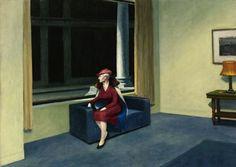 Hopper; hotel window.