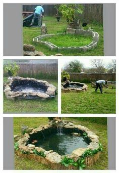 steps to building an above ground koi pond fyi this would have to deeper if you plan on keeping fish inside