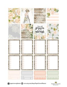 planner portada FOREVER and ALWAYS Weekly Kit/Printable Planner Stickers/Planner Stickers for Erin Condren Life Planner/Wedding Weekly Planner Sticker Set Mini Happy Planner, Free Planner, Planner Pages, Weekly Planner, Bujo, Wedding Checklist Printable, Printable Planner Stickers, Planner Template, Journal Stickers
