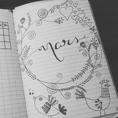 """6 Likes, 1 Comments - Mallorie Dubois (@loko_mallo25) on Instagram: """"Entrée du mois de mars dans mon bullet. #bujocommunity #bujojunkies #bujo #bujofr #bujoch…"""""""