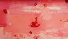 Helen Frankenthaler: Around the Clock with Red, 1983 - oil on canvas (Hunter Museum) Helen Frankenthaler, Robert Rauschenberg, Joan Mitchell, Jackson Pollock, Moma, Abstract Painters, Abstract Art, Hunter Museum, Collage