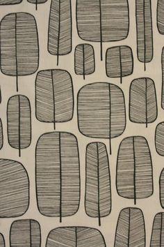 Stoff grafische Muster - Little Trees Monochrome - ein Designerstück von stoffsalon bei DaWanda