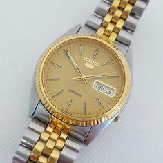 92c33766a86 Seiko 5 Two-tone Day-Date Automatic Men s Watch Men s Fashion