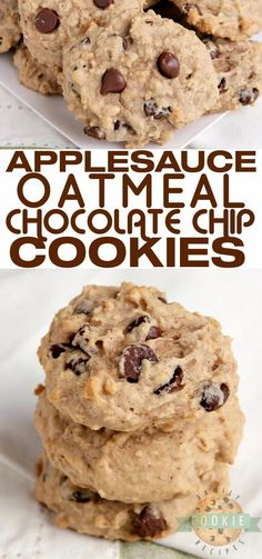 Applesauce Oatmeal Chocolate Chip Cookies are moist, soft and packed with flavor. Delicious applesauce cookies that are simple to make and are absolutely delicious too!