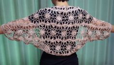 hairpin lace crochet shrug
