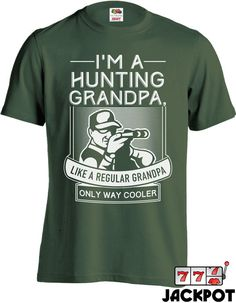 267a7f5ae Funny Hunting Shirt Gifts for Grandpa Father's Day Gift Grandfather Shirt  Cool Grandpa Shirt Men's Tee MD-423