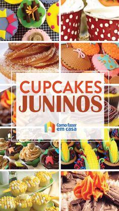 Cupcakes para Festa Junina: 20 inspirações | Como fazer em casa Cupcake Churros, Snack Recipes, Snacks, Chips, Activities, School, Breakfast, Food, How To Make Candy