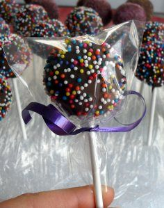 Not only a cute pop, but this is a recipe for making cake pops without the special cake pop pan.  You just make a thick batter that you make balls with and refrigerate.  This would be a really fun recipe to do with the kids.