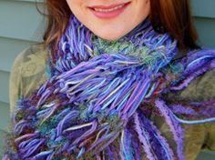 Sea Mermaid Scarf  Purples Greens Blues Hand by CricketsCreations, $45.00