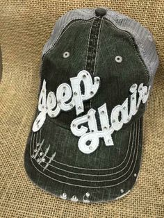 A personal favorite from my Etsy shop https://www.etsy.com/listing/253295042/jeep-hair-hat-you-choose-letter-color
